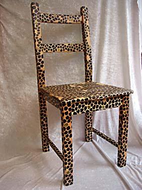 Bemalte Stühle wunschkeramik portätbilder